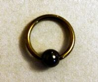 Yellow Titanium Nose Ring /Earring -7mm